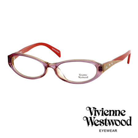 Vivienne Westwood 光學鏡框★閃亮時尚晶鑽★英倫龐克風(紅) VW193 04