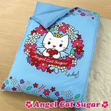 【Angel Cat Sugar】朵朵花-加大尺寸兒童睡袋(花環藍)