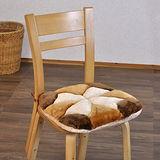 《格藍傢飾》花兒絨毛餐椅墊棕色-(6入)