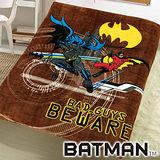 【BATMAN】蝙蝠俠保暖舒適珊瑚絨毯(月光咖)