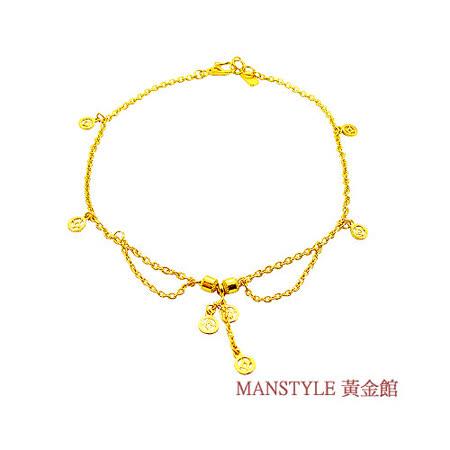 Manstyle「福祿壽」黃金腳鍊