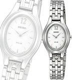 SEIKO 素顏美人太陽能時尚腕錶-銀 V114-0AA0S