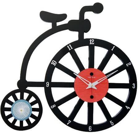 腳踏車童趣風格藝術鐘
