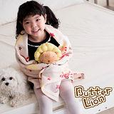 【奶油獅】台灣製造-搖滾星星搖粒絨保暖披肩毯(75X140cm)-米色