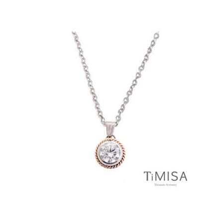 【TiMISA】鈦愛馬卡龍(三色) 純鈦項鍊(C)
