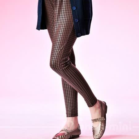 【ohoh-mini孕婦裝】低調奢華‧晶亮花紋內搭孕婦褲(二色)