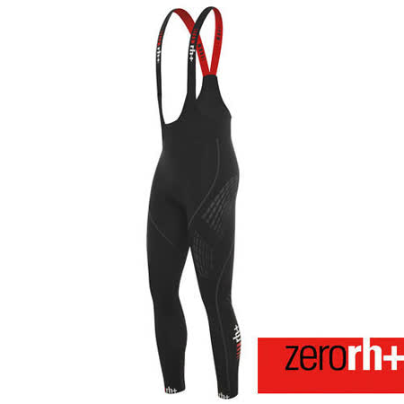 ZERORH+ 獨家力量肌肉貼花設計刷毛保暖自行車吊帶車褲(男) ICU0100