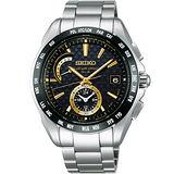SEIKO BRIGHTZ 重裝上陣電波腕錶-黑/金時標 8B54-0AT0K