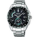 SEIKO BRIGHTZ 重裝上陣電波腕錶-黑/銀 8B54-0AT0D
