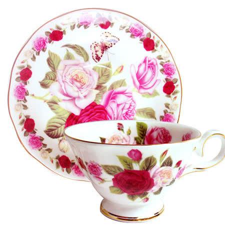 【玫瑰蝴蝶】2入杯盤組GW-230