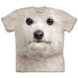 『摩達客』(預購)美國進口【The Mountain】自然純棉系列 捲毛比熊犬臉 設計T恤