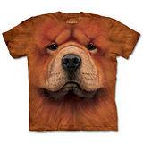 『摩達客』(預購)美國進口【The Mountain】自然純棉系列 鬆獅犬臉 設計T恤