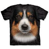 『摩達客』(預購)美國進口【The Mountain】自然純棉系列 澳洲邊境牧羊犬臉 設計T恤