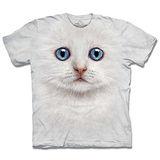 『摩達客』(預購)美國進口【The Mountain】自然純棉系列 雪白小貓 設計T恤