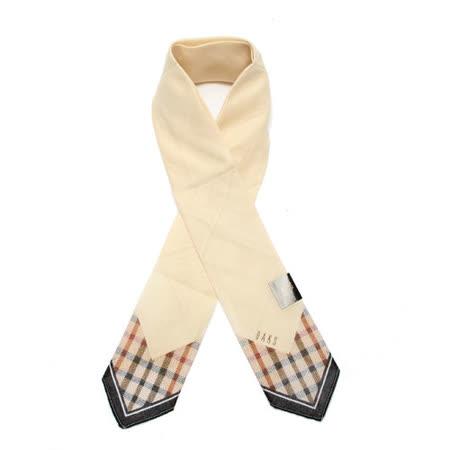 DAKS 抗UV經典格紋夏季涼感薄圍巾-米白