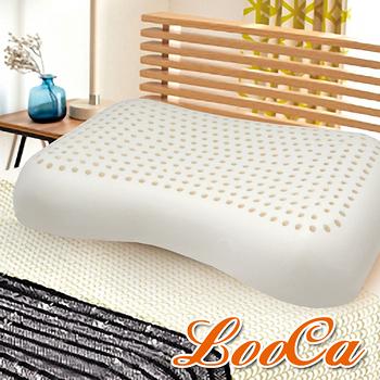 【LooCa】全波型天然乳膠舒眠特大枕(2入)