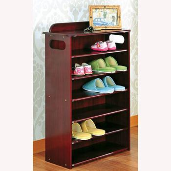 【Asllie】英式古典六層收納鞋櫃-咖啡