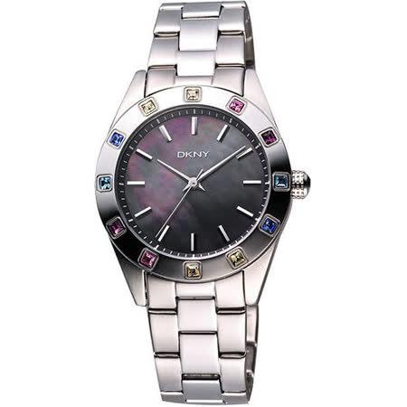 DKNY 黑珍珠貝彩色晶鑽腕錶 NY8718
