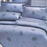 【珍珠花語-藍】加大三件式床包+枕套組