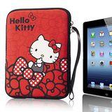 Hello Kitty10吋平板及小筆電保護袋-蝴蝶結紅