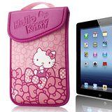 Hello Kitty10吋平板及小筆電保護袋(黏扣式)-蝴蝶結粉