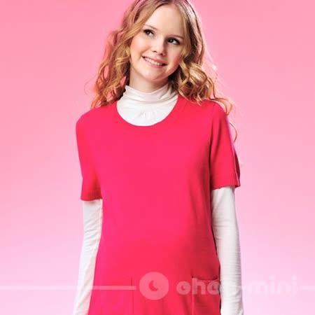 【ohoh-mini孕婦裝】Super Star短袖針織長版上衣