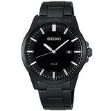 SEIKO SPIRIT 紳士品格時尚太陽能腕錶(IP黑-V147-0AF0K)