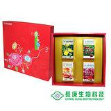 【長庚生技】寵愛禮盒(月見草油/維他命C/蔓越莓PAC36/金色丰采)