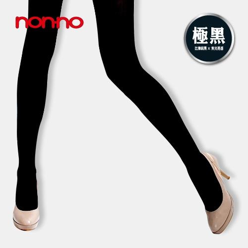 NON~NO140D彈性褲襪~極黑 ^(150^~180cm^)