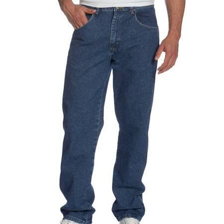 Wrangler 藍哥男耐磨休閒合身古藍色牛仔褲【預購】
