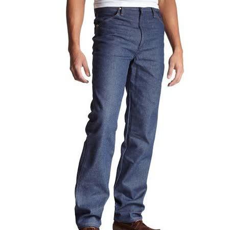 Wrangler 藍哥男時尚合身古藍色牛仔褲【預購】