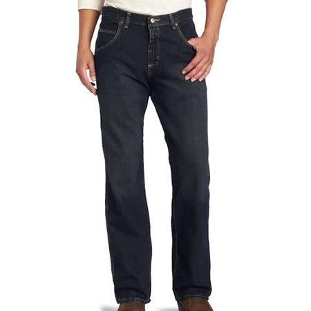Wrangler 藍哥男耐磨寬鬆舒適黑藍色牛仔褲【預購】