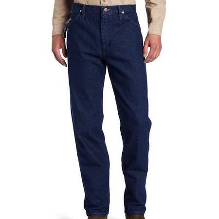 Wrangler 藍哥男經典原創設計深中藍色牛仔褲【預購】