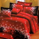 《KOSNEY 花開富貴 》加大100%活性精梳棉六件式床罩組台灣製
