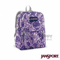 Jansport 25L 簡單休閒後背包(紫色蛇紋)