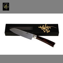料理刀具  大馬士革鋼系列-小萬用廚師刀 〔臻〕高級廚具