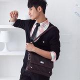 【金安德森】時尚掀蓋式斜背書包(小)