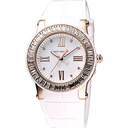 Juicy Couture 羅馬晶鑽世界腕錶-玫塊金/白 J1900886