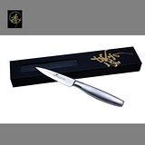 料理刀具 大馬士革鋼系列-削皮刀(不鏽鋼柄) 〔臻〕高級廚具
