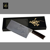 料理刀具 大馬士革鋼系列 中式菜刀-片刀 〔臻〕高級廚具