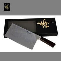 料理刀具 大馬士革鋼系列 中式菜刀-大片刀 〔臻〕高級廚具