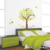 FIXPIX 創意造型壁貼-彩繪鳥與愛心樹 (HPS-60033)