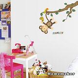 FIXPIX 創意造型壁貼-可愛猴子爬樹 (HSS-58219)
