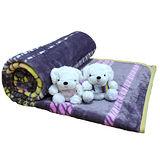 《KOSNEY 》紫月迷香加厚超柔法萊絨毯150x210cm