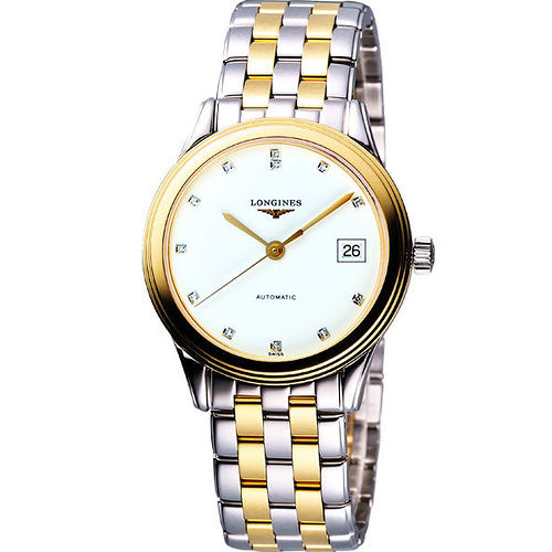 LONGINES Flagship 優雅旗艦真鑽機械腕錶-半金 L47743277