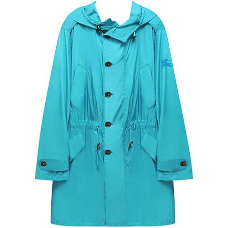 BURBERRY 英倫湖水綠色紳士長版風衣外套【L號】