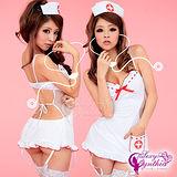 【Sexy Cynthia】姬情誘惑!裸背五件式吊襪帶護士服