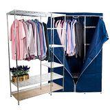 鐵力士鐵管大衣櫥附布套(寬120公分)
