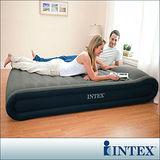 【INTEX】豪華加高-雙人特厚植絨充氣床(附電動幫浦)