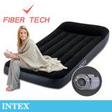 【INTEX】舒適型內建電動幫浦充氣床墊-單人加大-寬99cm-有頭枕